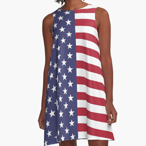 USA - American Flag - Cell Phone Cover A-Line Dress