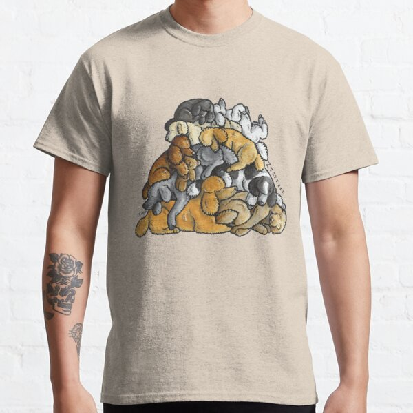 Sleeping pile of Poodle dogs Classic T-Shirt