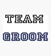 Team groom Photographic Print