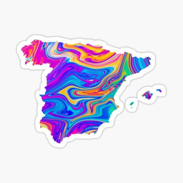 España Mapa Petróleo Pegatina