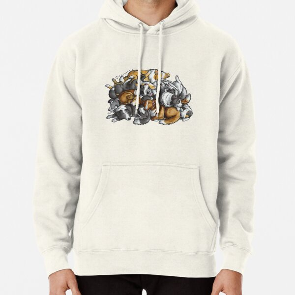 Sleeping pile of Border Collie dogs Pullover Hoodie