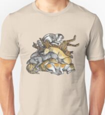 Sleeping pile of Greyhound dogs T-Shirt