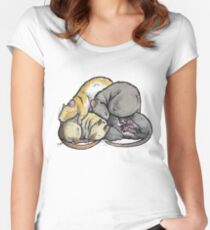 Sleeping Pile of Pet Rats Women's Fitted Scoop T-Shirt