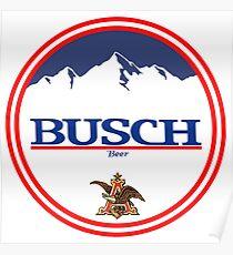 buschlight, busch light, busch, beer, drink, mountain, pub, logo, symbol. Poster