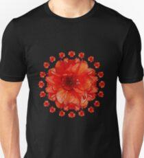 Poppy Field Mandala Unisex T-Shirt