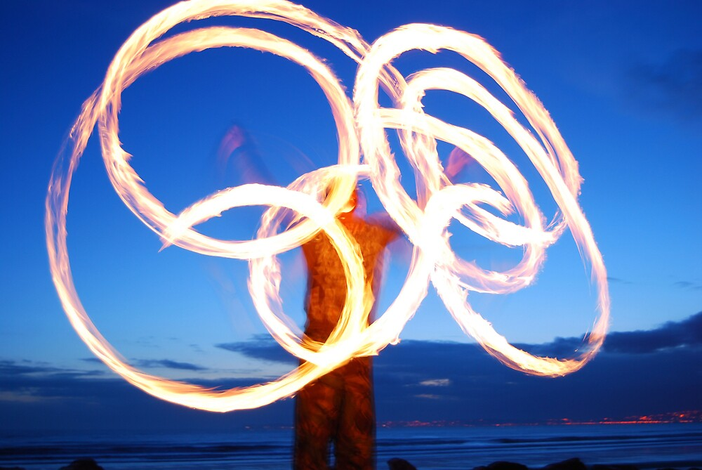 windmill fire poi , by cool3water