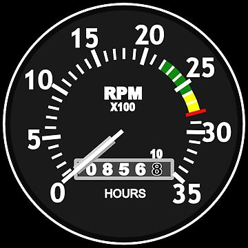 TACHOMETER, RPM, SPEED, RACE, MOTORSPORT, RACING, SPEEDOMETER, REV COUNTER, on BLACK by TOMSREDBUBBLE