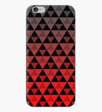 Vinilo o funda para iPhone Tri-patrón (gradiente rojo)