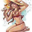Beach Girl, Sexy Summer Girl by vasylissa