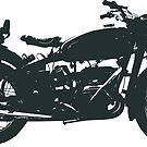 motorrad, antiquität, vintag, klassisch, alt, retro, cool, einzigartig, biker, old biker, old. von komank83