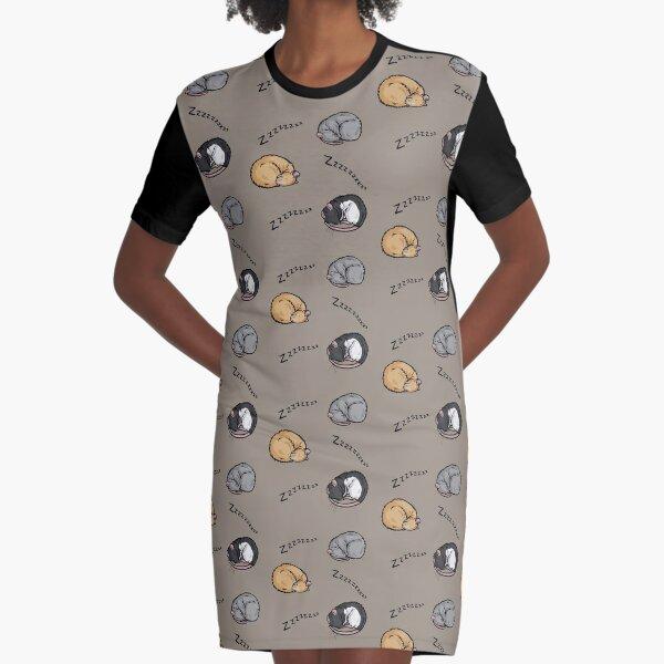 Sleeping rats Graphic T-Shirt Dress