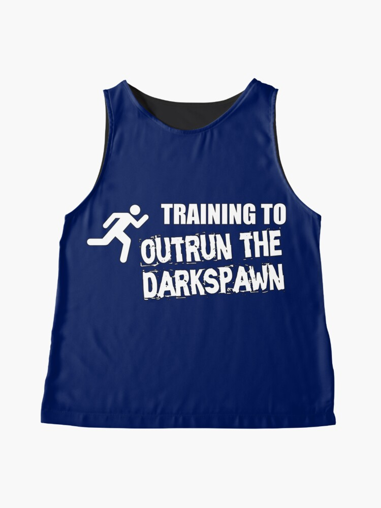 Alternate view of Training to outrun the Darkspawn Dragon Age Sleeveless Top