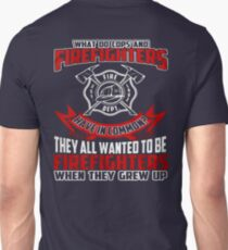 Firefighter Shirt Cheap - Firefighters vs Cops T-Shirts Unisex T-Shirt