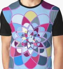 Decorative abstract geometric flowers Graphic T-Shirt