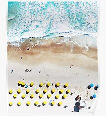 Strand-Print, Strand-Kunstdruck, Strandleben, moderne Strand Poster, Seedruck, Küste, Landschaft blaues Wasser, Seedruck, Ozean Druck, Minimalist Poster