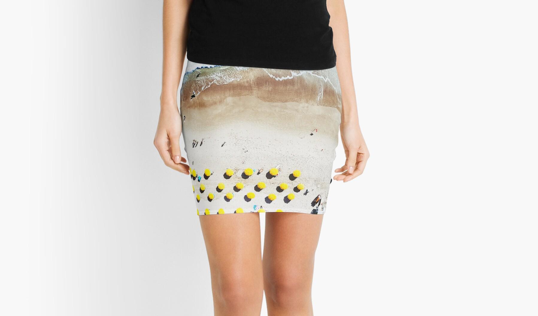Minifaldas «Impresión de playa, Lámina de playa, Vida de playa ...