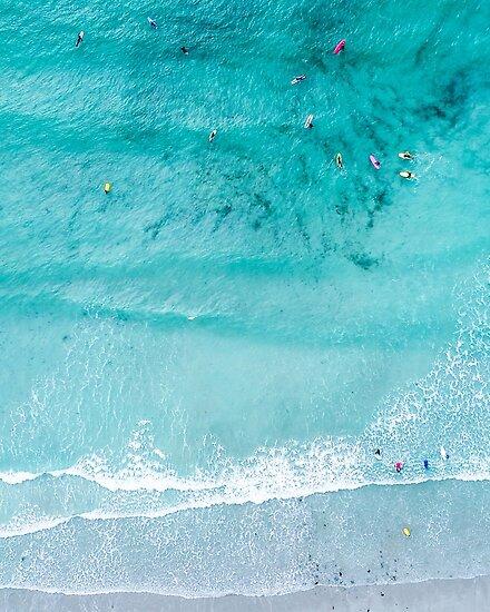 Strand-Print, Strand-Kunstdruck, Strandleben, moderne Strand Poster, Seedruck, Küste, Landschaft blaues Wasser, Seedruck, Ozean Druck, Minimalist von juliaemelian