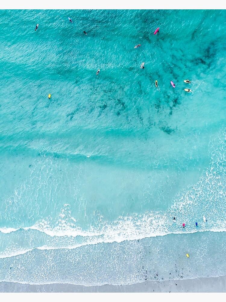 Beach Print, Beach Art Print, Beach Life, Modern Beach Poster, Sea Print, Coastal, Landscape Blue water, Sea print, Ocean print, Minimalist by juliaemelian
