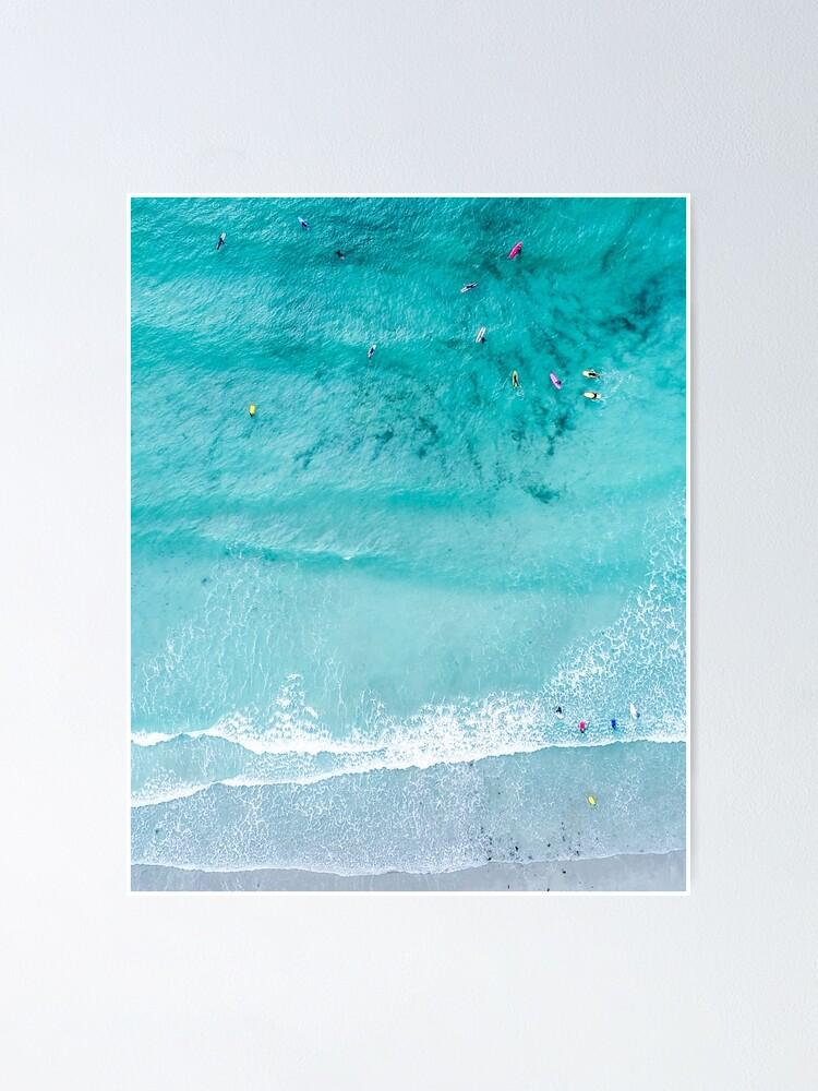 Alternate view of Beach Print, Beach Art Print, Beach Life, Modern Beach Poster, Sea Print, Coastal, Landscape Blue water, Sea print, Ocean print, Minimalist Poster