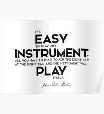 easy to play any musical instrument - bach Poster