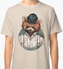 Cute Red Panda in Bowler hat Classic T-Shirt