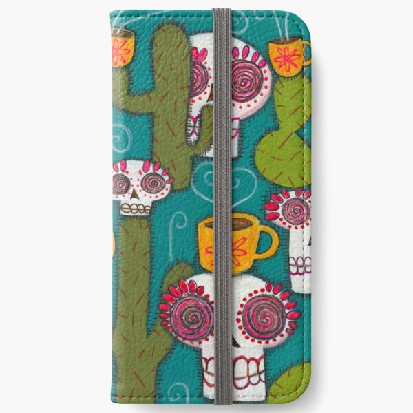 Skulls, Cacti and Atomic Coffee iPhone Wallet