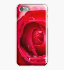 Intense Red Rose After the Rain iPhone Case/Skin
