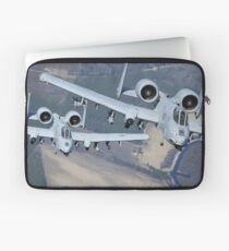 Two A-10C Thunderbolt II aircraft fly in formation. Laptop Sleeve
