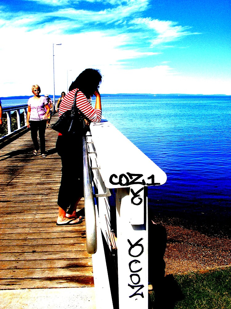 mum at wello point jetty by lolly83