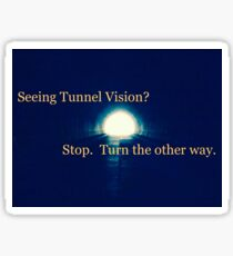 Tunnel Vision Sticker