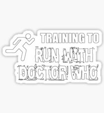 Training to run with Doctor Who Sticker