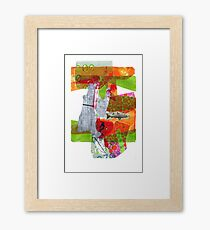 play • collage • drawing • climate • fish Framed Print