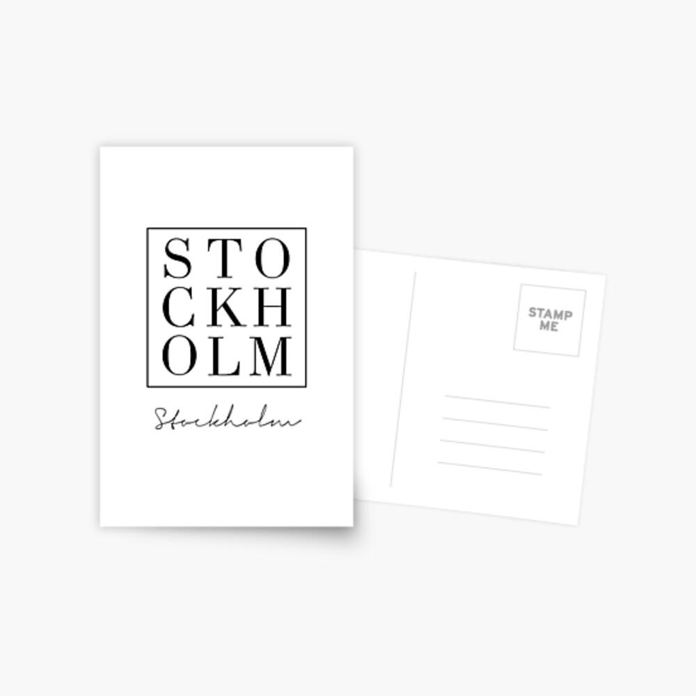 Estocolmo, Ciudad, Escandinavo, Nórdico, Impresión de moda, Arte escandinavo, Arte moderno, Arte de la pared, Impresión, Minimalista, Moderno Postal