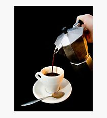Fresh coffee for one Photographic Print