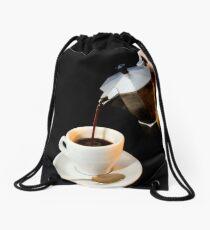 Fresh coffee for one Drawstring Bag