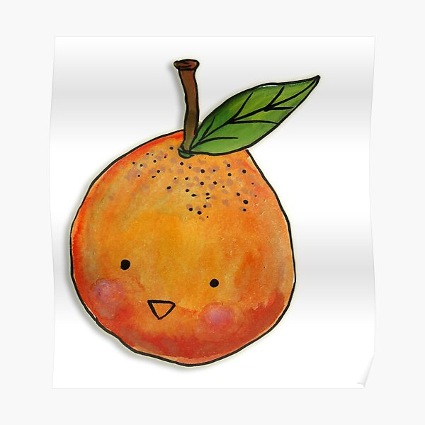 Cutie Orange Head Poster