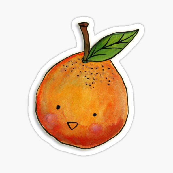 Cutie Orange Head Sticker