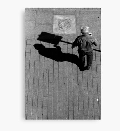 Does it hurt if your shadow bumps into something? Canvas Print