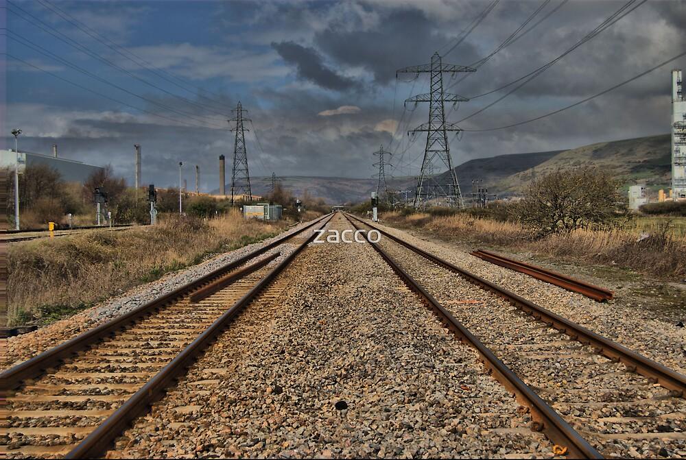 train track pylon margam hdr by zacco