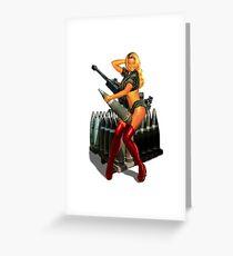 SEXY BOMB GIRL MERCHNADISE Greeting Card