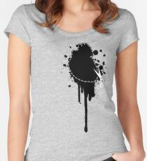 Cut Your Losses (black) Women's Fitted Scoop T-Shirt