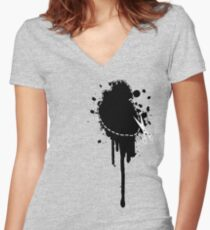 Cut Your Losses (black) Women's Fitted V-Neck T-Shirt