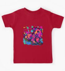 Colour Splash Bull Terrier Pup  Kids Tee