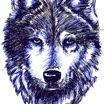 Timber Wolf - Blue by sandyeates
