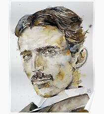 NIKOLA TESLA - watercolor portrait.6 Poster