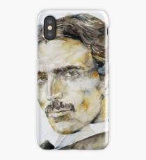 NIKOLA TESLA - watercolor portrait.6 iPhone Case/Skin