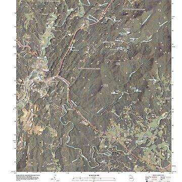 USGS TOPO Map Georgia GA Ellijay 20110307 TM by wetdryvac