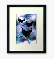 Bubblebats Framed Print