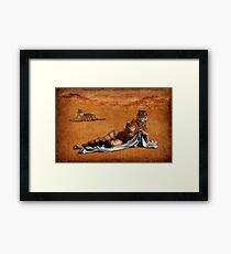 The woman who roared with the tigers one day Framed Print