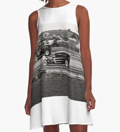 Nostalgia Drag Racing A-Line Dress